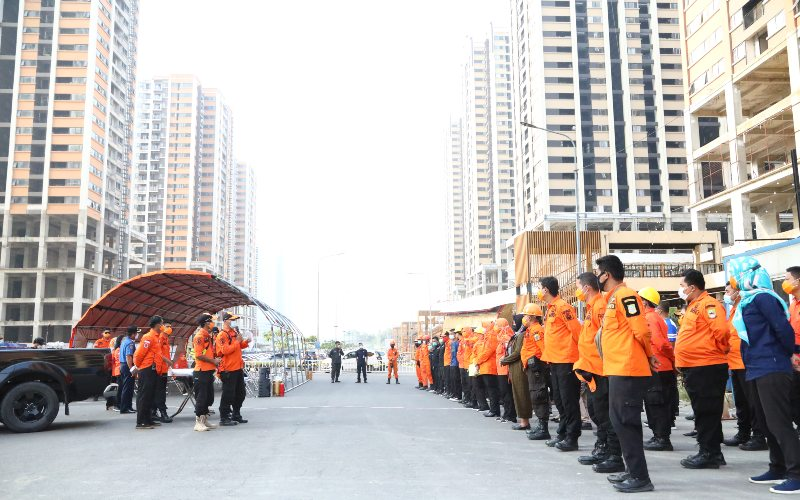Meikarta bekerja sama dengan Badan Penanggulangan Bencana Daerah (BPBD) Kabupaten Bekasi mengadakan pelatihan simulasi bencana alam