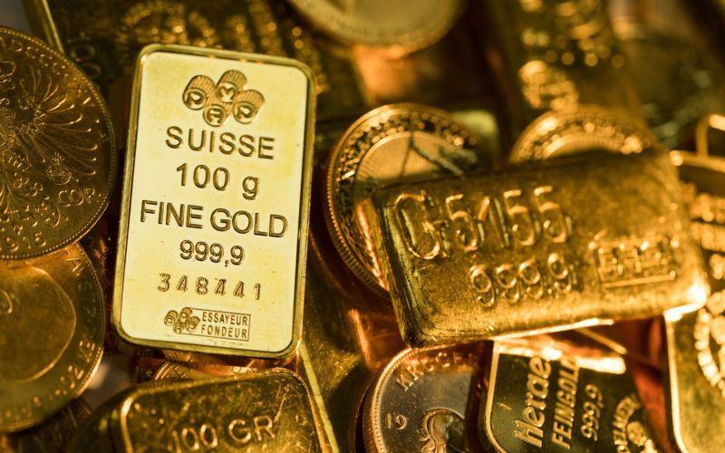Aneka emas batangan beragam ukuran dan bentuk. Harga emas dunia diperkirakan akan terus menguat seiring dengan pelemahan dolar AS. - Bloomberg