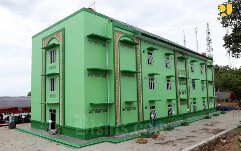 Salah satu contoh Rusun yang dibangun oleh Kementerian PUPR. - setkab/Kementerian PUPR.