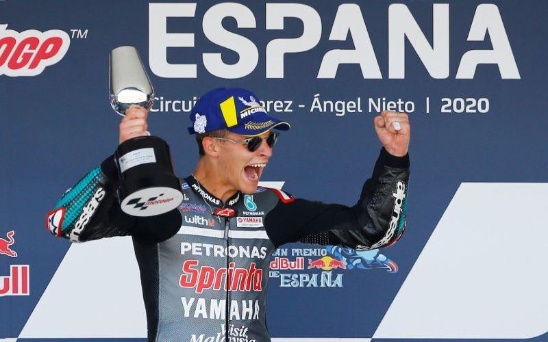 Fabio Quartararo juara Moto GP 2020 di Jerez, Spanyol. - Antara