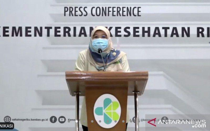 Juru bicara vaksinasi dari Kementerian Kesehatan (Kemenkes) dr Siti Nadia Tarmizi. - Antara/Muhammad Zulfikar
