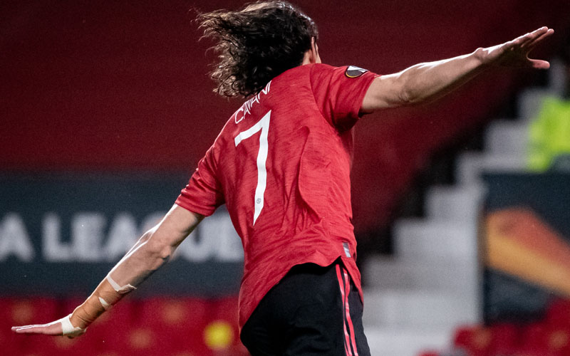 Ujung tombak Manchester United Edinson Cavani. - Twitter@ManUtd
