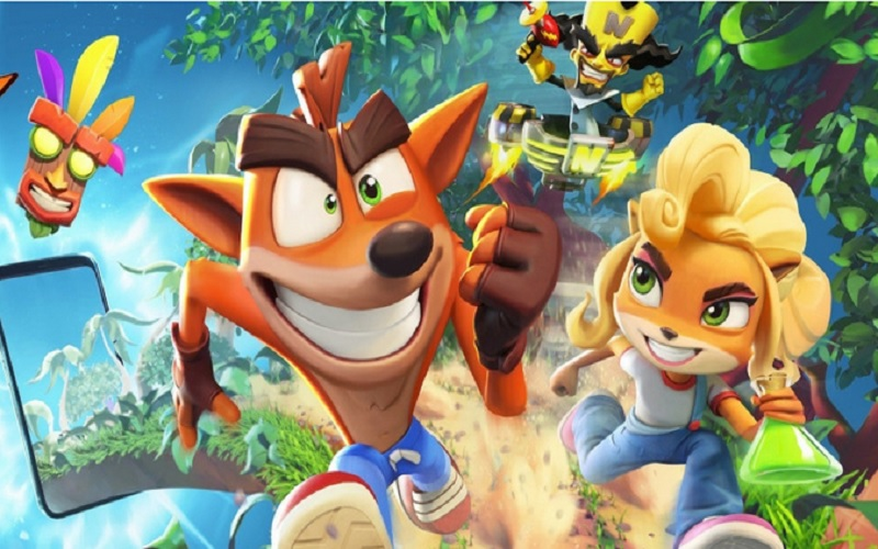 Mobile game berbasis Endless runner, Crash Bandicoot: On The Run.  - Istimewa