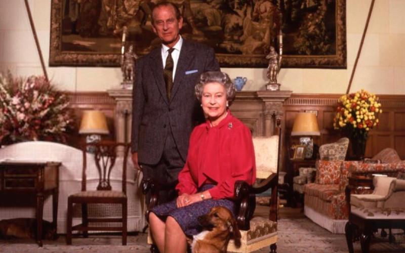 Ratu Elizabeth II dan Philip Mountbatten.  - Galeri Potret Nasional London