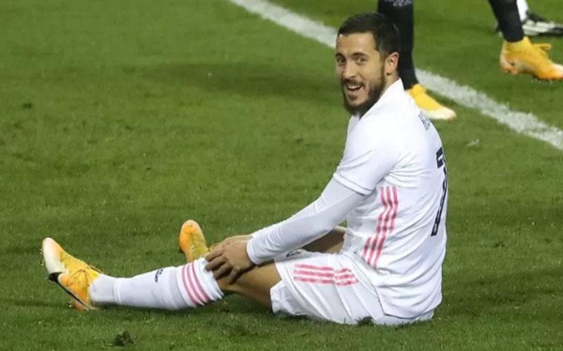 Penyerang Real Madrid Eden Hazard./Antara - Reuters