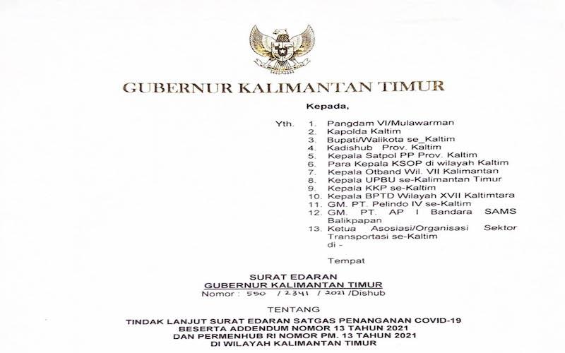 Gubernur Kalimantan Timur Isran Noor menerbitkan surat edaran yang melarang aktivitas mudik keluar dan masuk daerah itu. - JIBI/Rachmad Subiyanto