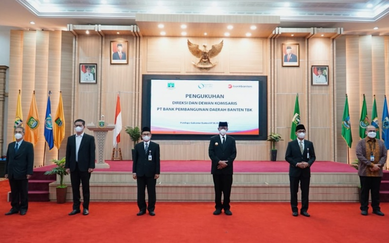 Pengukuhan Manajemen Baru Bank Banten (BEKS) - Istimewa