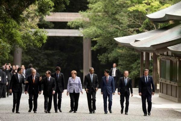 Para kepala negara anggota G7 - Reuters