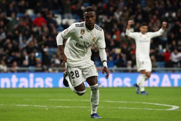 Penyerang sayap Real Madrid Vinicius Junior - Reuters