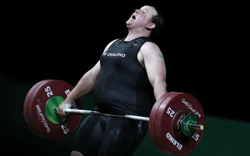 Atlet angkat besi Selandia Baru Laurel Hubbard./Antara - AFP