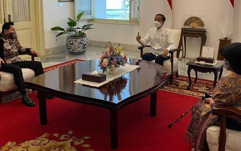 Eks Kepala BIN Jenderal TNI (Purn) AM Hendropriyono bertemu dengan Presiden Jokowi di Istana Negara, Jakarta pada Jumat 7 Mei 2021 / Instagram