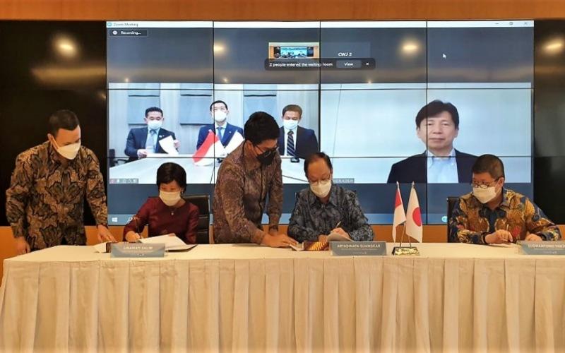 Acara penandatanganan kerja sama Ciputra Group dengan Toda Group Indonesia dilaksanakan di DBS Bank Tower, Jakarta, Jumat (7/5/2021). - Istimewa