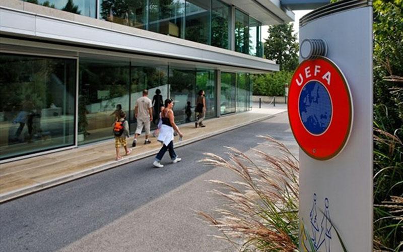 Markas Union of European Football Associations (UEFA) di Nyon, Swiss. - uefa.com
