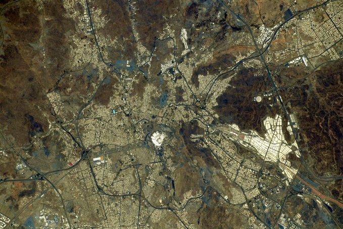 Foto Mekah dari luar angkasa - istimewa