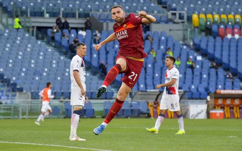 Striker AS Roma Borja Mayoral, pinjaman dari Real Madrid. - Twitter@OfficialASRoma