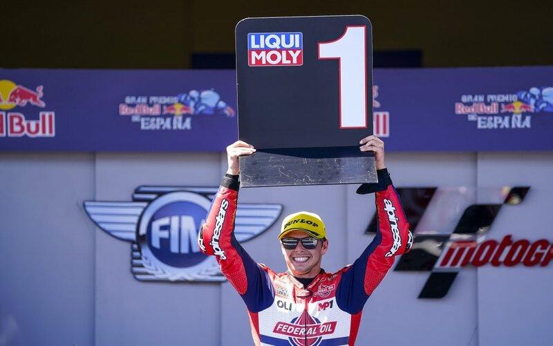 Pembalap Federal Oil Gresini Moto2 Fabio Di Giannantonio di GP Jerez, Spanyol, 2 Mei 2021 -  Gresini Racing