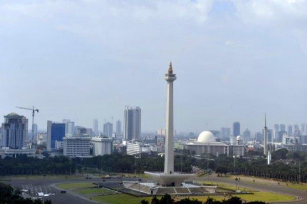 Pemandangan Silang Monas, Jakarta. - Antara