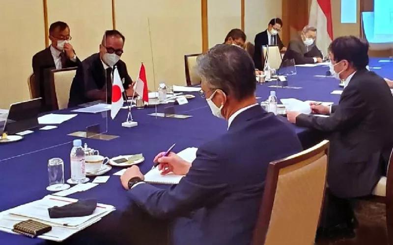 Menteri Perindustrian (Menperin) Agus Gumiwang Kartasasmita menjadi menteri pertama di dunia yang diterima resmi oleh pemerintah Jepang sejak menetapkan status State of Emergency.  - ANTARA/kemenperin.go.id