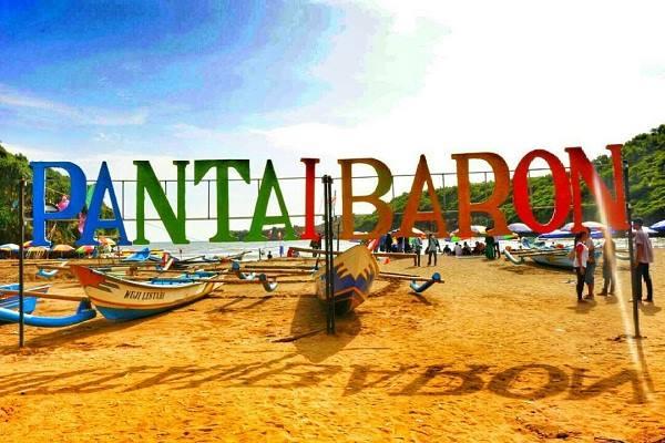 Pantai Baron di Kabupaten Gunung Kidul, Yogyakarta. - Istimewa