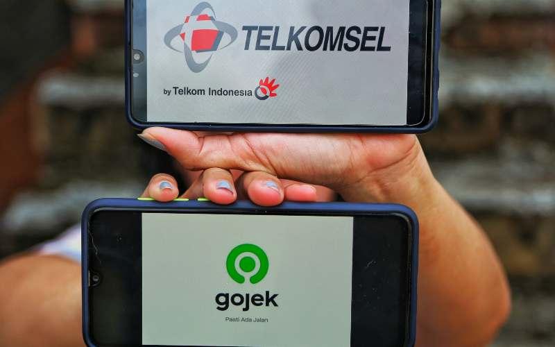 Kolaborasi Telkomsel dengan Gojek. - istimewa