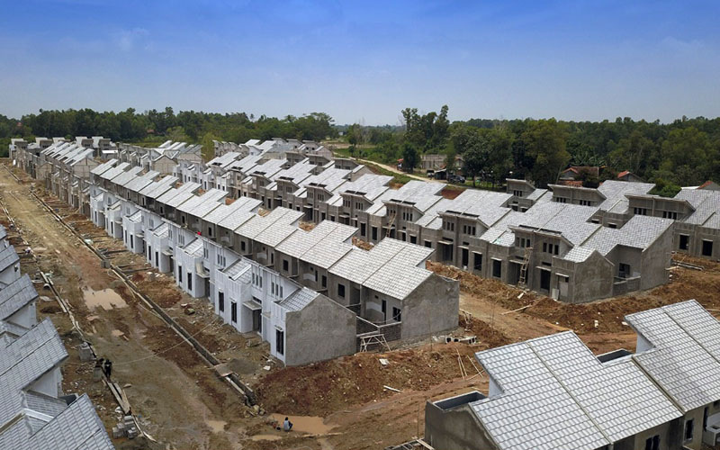 Ilustrasi proses pembangunan perumahan di Tangerang, Banten. - Istimewa