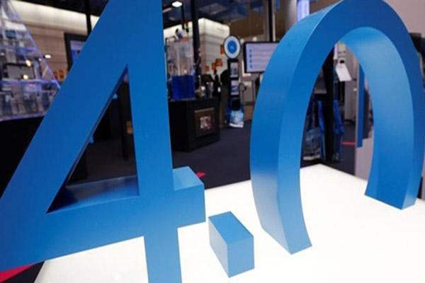 Ilustrasi logo revolusi industri 4.0. - Reuters/Wolfgang Rattay