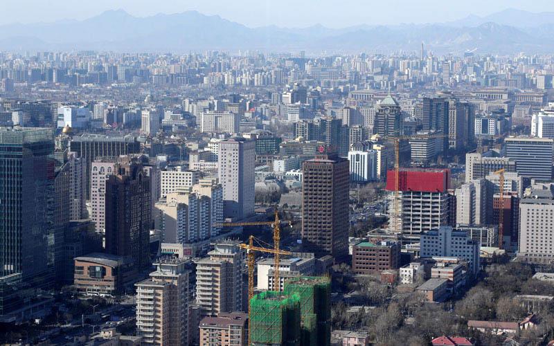 Residensial dan perkantoran di Beijing, China, dalam foto file 10 Januari 2017./Reuters - Jason Lee