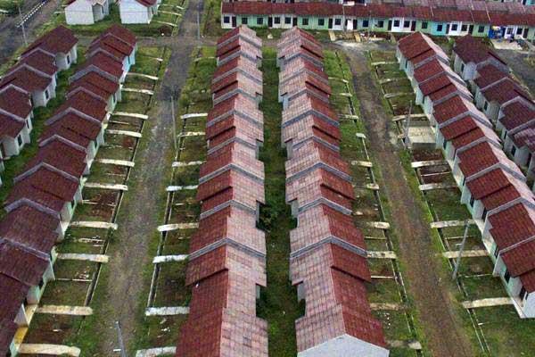 Perumahan subsidi di Citayam di perbatasan Kota Depok dan Kabupaten Bogor, Jawa Barat./Bisnis.com - Nurul Hidayat