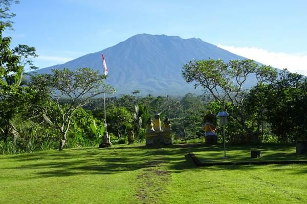 Kondisi Gunung Agung di Bali, Sabtu (10/2/2018). - Dok. Badan Geologi Kementerian ESDM