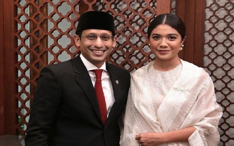 Menteri Pendidikan Kebudayaan dan Ristek Nadiem Makarim dan istri Franka Franklin. - Instagram @nadiemmakarim