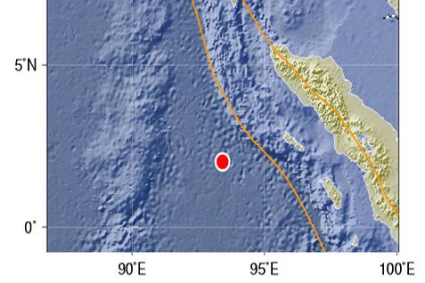 Ilustrasi gempa di Pulai Nias