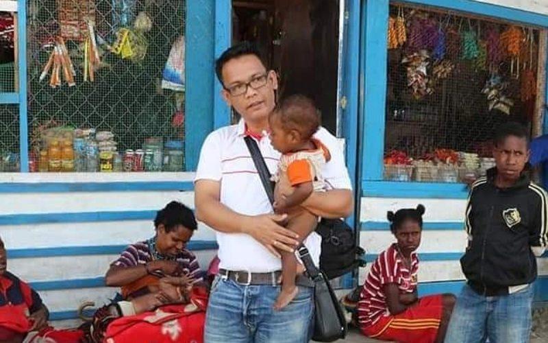 Birgaldo Sinaga ketika berkunjung ke Papua - Twitter/@Birgaldo_Sinaga