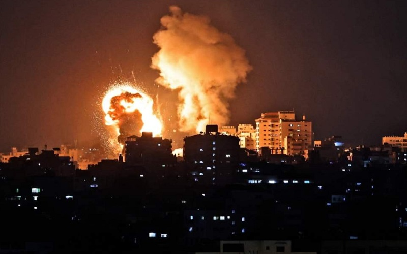 Ilustrasi-Tentara Israel menembakkan rudal ke jalur Gaza, Yerusalem  -  Twitter