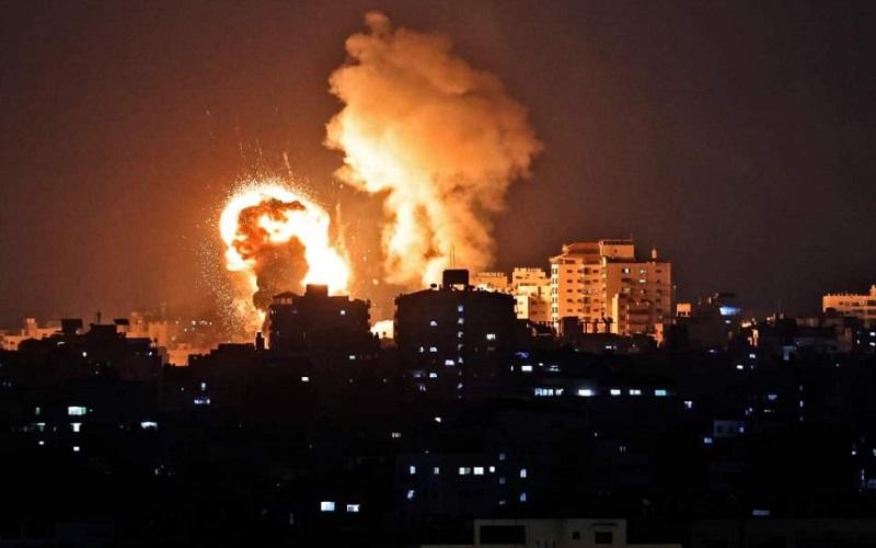 Tentara Israel menembakkan rudal ke jalur Gaza, Yerusalem. - Twitter