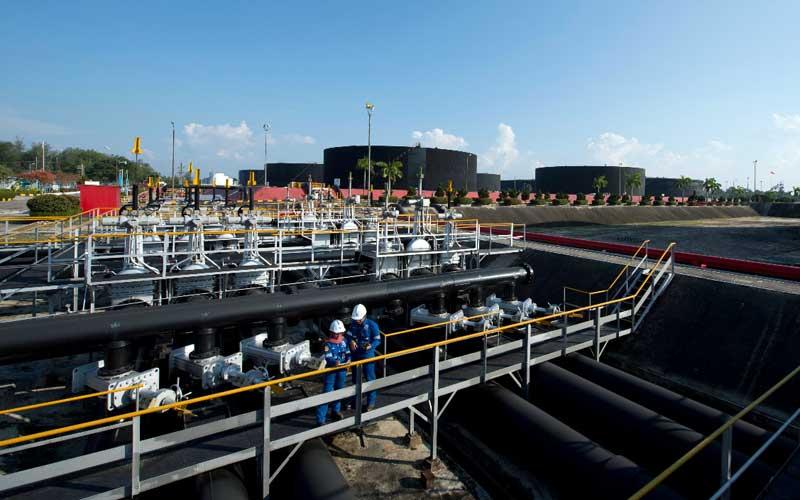 Fasilitas produksi Blok Rokan yang dikelola PT Chevron Pacific Indonesia di Minas, Riau. - SKK Migas