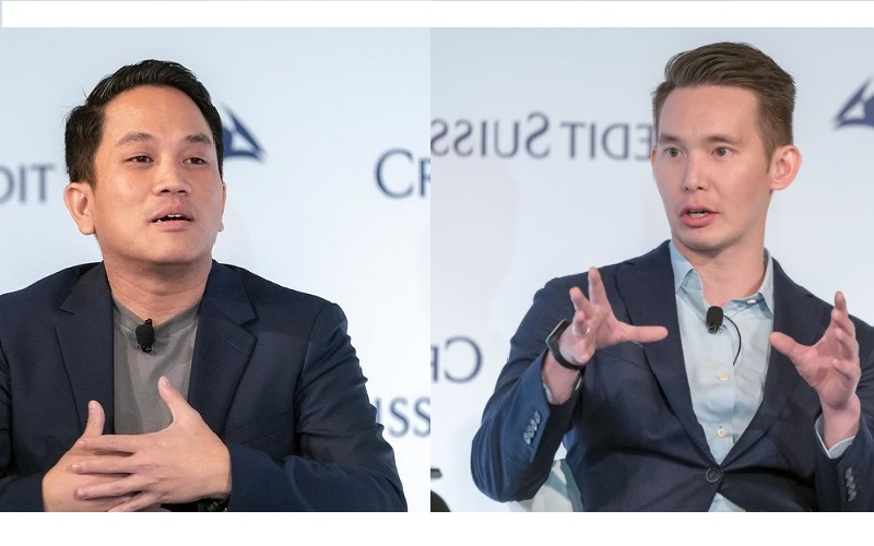 CEO GoTo Andre Soelistyo dan Presiden GoTo Patrick Cao.  - Flickr