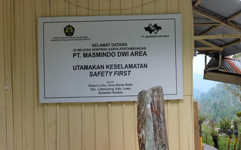 Kawasan tambang PT Masmindo Dwi Area di Desa Rante Balla, Kabupaten Luwu. - Istimewa