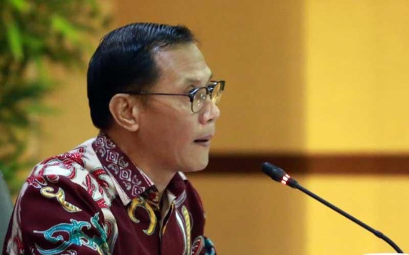 Kepala Badan Pusat Statistik (BPS) Kecuk Suhariyanto memberikan keterangan saat jumpa pers di Jakarta, Rabu (1/7 - 2020).