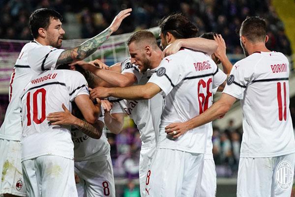 AC Milan rentan terlempar dari zona tiket Liga Champions Eropa. - Twitter@AC Milan