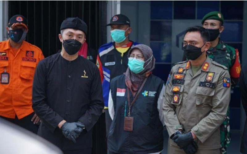 Kepala Dinas Kesehatan Kota Bogor Sri Nowo Retno di Perumahan Griya Melati Kota Bogor/Antara/HO - Pemkot Bogor\r\n\r\n