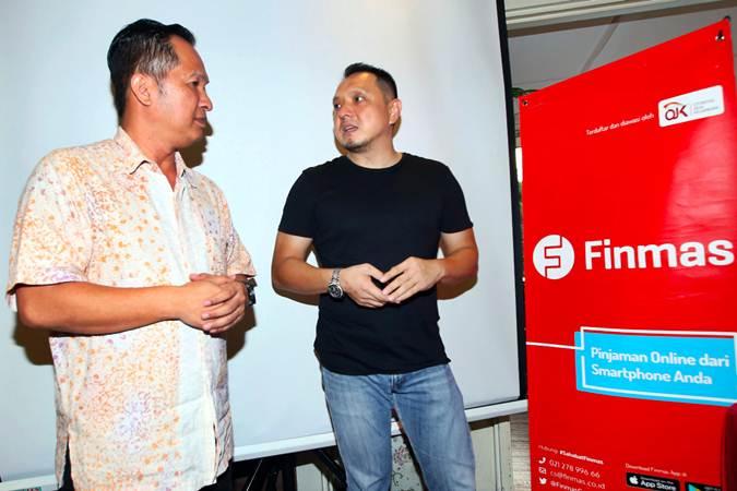 Kuseryansyah (kiri), Direktur Eksekutif Asosiasi Fintech Pendanaan Bersama Indonesia (AFPI), usai memberikan pemaparan dalam acara buka puasa bersama dan diskusi fintech lending di Jakarta, Selasa (21/5/2019). - Bisnis/Abdullah Azzam