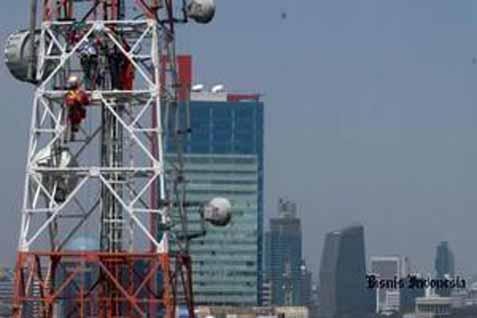 Ilustrasi menara telekomunikasi