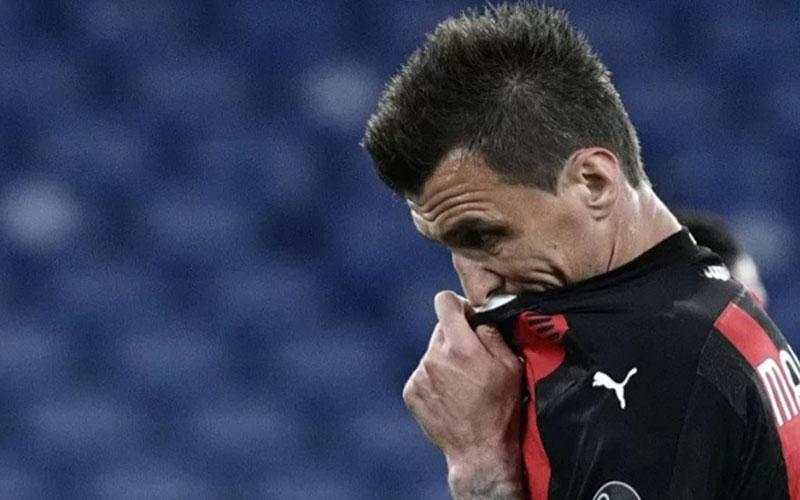 Striker AC Milan Mario Mandzukic/Antara - AFP