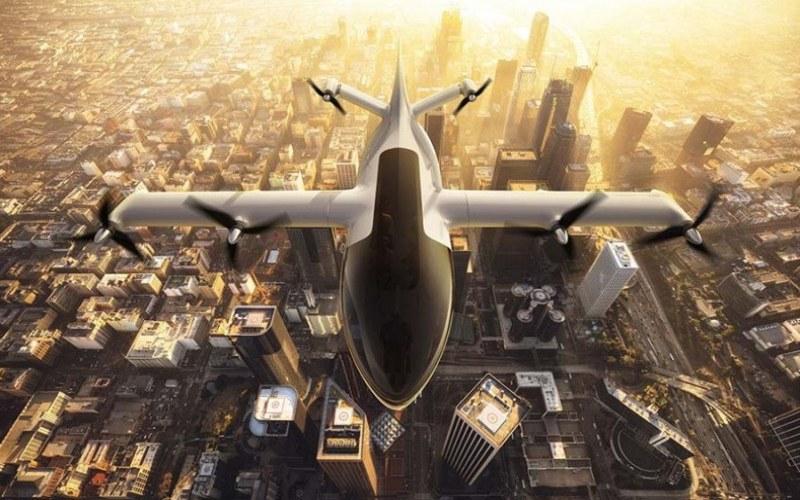 Rancangan pesawat listrik yang dilengkapi electric propultion unit (EPU) yang akan dikembangkan Honeywell bersama Denso. - ANTARA/Denso