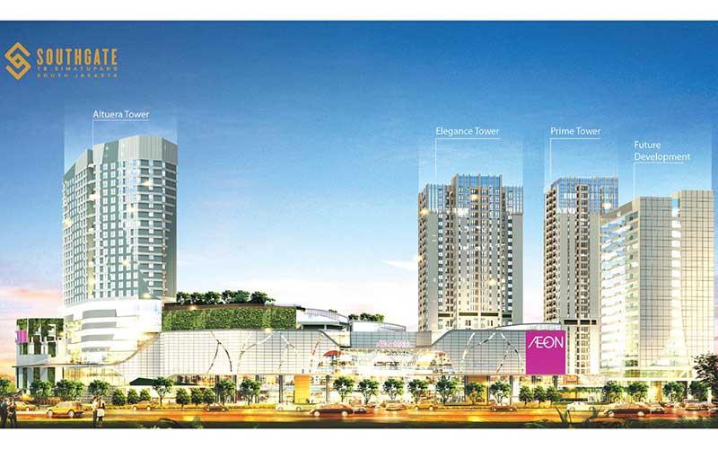 Superblock Southgate yang dikembangkan Sinar Mas Land di kawasan bisnis dan niaga Jakarta Selatan.  - Sinar Mas Land