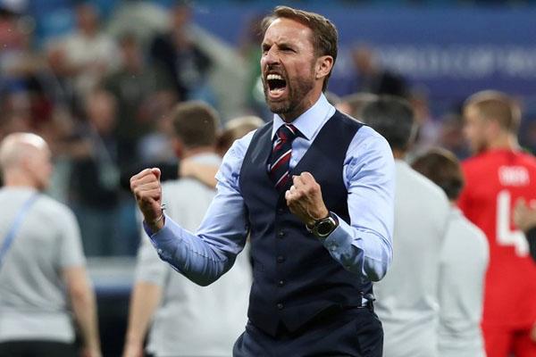 Pelatih Timnas Inggris Gareth Southgate/Reuters - Sergio Perez