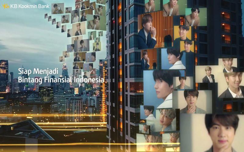 Bank KB Kookmin secara resmi mengubah nama dan logo anak perusahaan Bank Bukopin di Indonesia serta meluncurkan kampanye iklan dengan menggandeng global star kenamaan asal Korea Selatan yaitu BTS.  - Dok. KB Bukopin