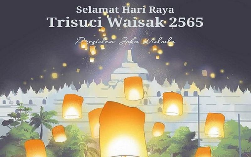 Presiden Joko Widodo mengucapkan Selamat Hari Raya Waisak bagi umat Buddha, Rabu (26/5/2021). - Instgaram @jokowi