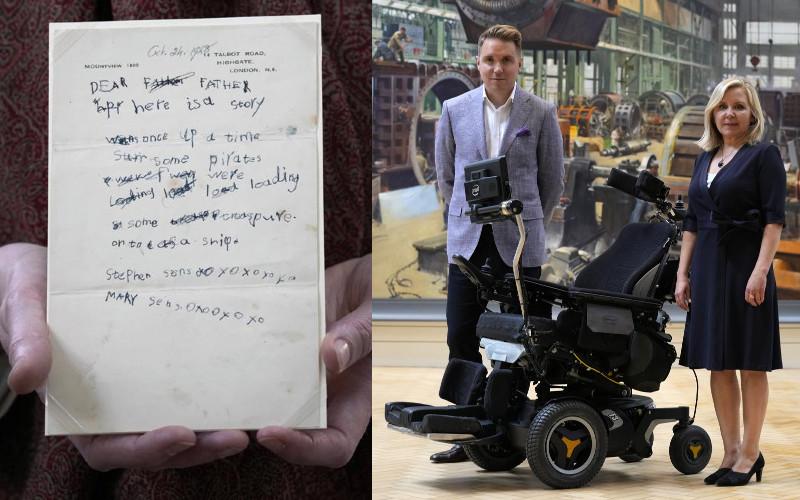 Anak-anak Hawking, Lucy, Tim, dan Robert, mengaku senang karya ayah mereka dilestarikan untuk umum untuk generasi mendatang.  - Museum Sains London