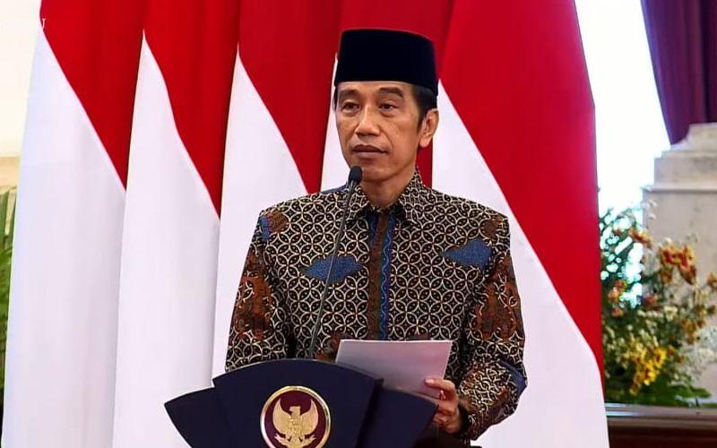 Presiden Joko Widodo saat membuka Musyawarah Kerja Nasional dan Musyawarah Nasional Alim Ulama Partai Kebangkitan Bangsa (PKB) secara virtual di Istana Negara, Kamis 8 April 2021 / Youtube Setpres